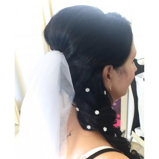 Aplikace do vlasů kytička krystal B575