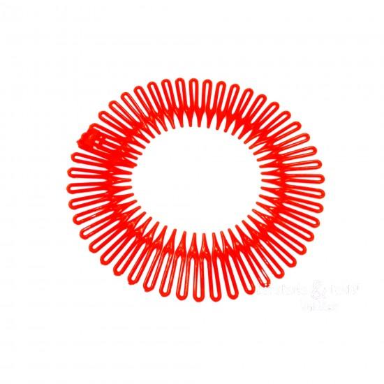 Čelenka do vlasů vytvářející pramínky červená C015