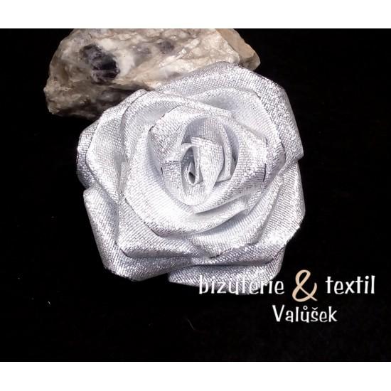 Brož  stříbrná růže BR014a