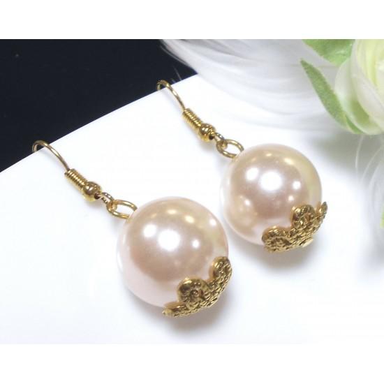 Náušnice perličky B582a