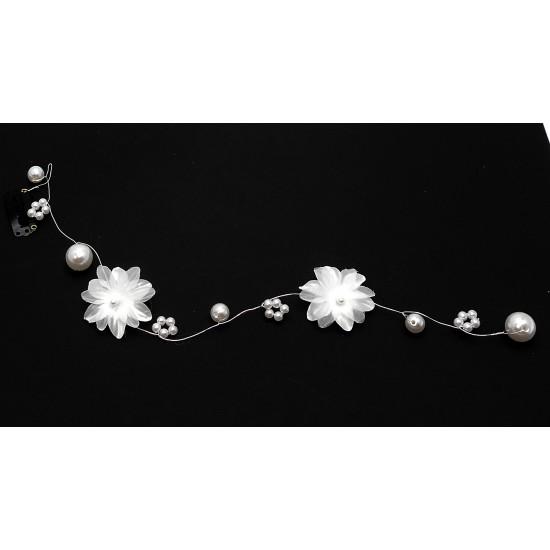 Aplikace do vlasů květy s perličkami AP11b