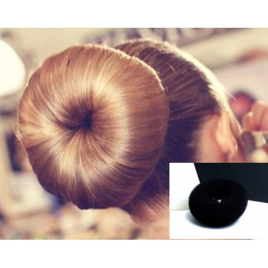 Donut  pomůcka pro zvětšení objemu vlasů maxi černá BD001a
