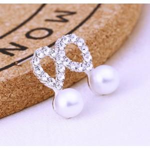 Náušnice perličkové/krystaly