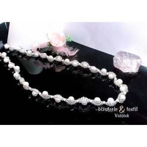 Náhrdelníky perličkové/krystaly