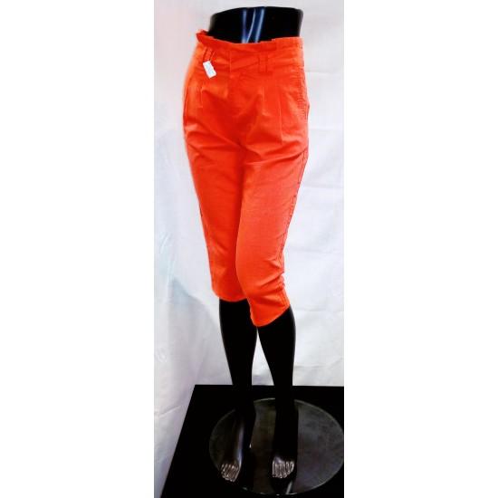 Dámské kalhoty  pod kolena Cache-cache oranžové B338